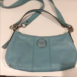 Coach Creed NoC1126-F15141 Teal Leather Crossbody